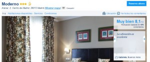 Hotel moderno madrid booking